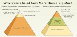 """A continuación se muestra una tabla donde se explica el costo de una ensalada vs. un """"Big Mac"""" de McDonald's."""